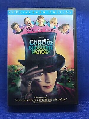 Charlie and the Chocolate Factory (DVD, 2005, Full Screen Edition) FREE SHIPPING