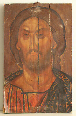 A Superb Large Antique/Vintage Orthodox Icon on Wooden Board