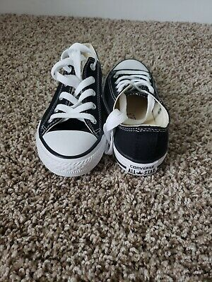 2ce96aca54bb New no box Boys Girl s Youth CONVERSE All Star Black Athletic Casual  Sneakers