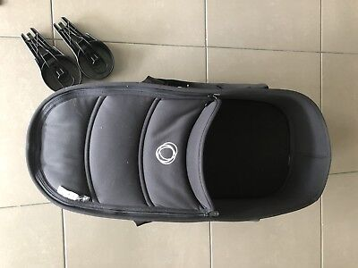Bugaboo Bee 3 Bassinet Set Incl Mounting Brackets and 2 mattress covers In Black