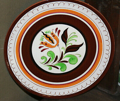 """Stangl Brown Tulip 8"""" plate"""