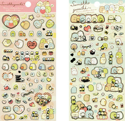 "San-X Sumikko Gurashi ""Sewing Plush"" 2 x Sticker Sheets"