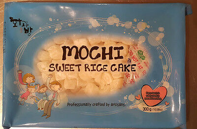 Mochi WHITE or RAINBOW Sweet Rice Cake 10.58 oz Pack for Topping Dessert Snack