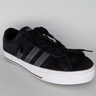 be553cb82b8d ADIDAS NEO Daily Black Gray White Suede Men Sneakers Sz 7.5 EU 40 2