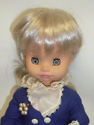 "Vintage 15"" Ratti Italian Doll, All Original, Platinum Hair"