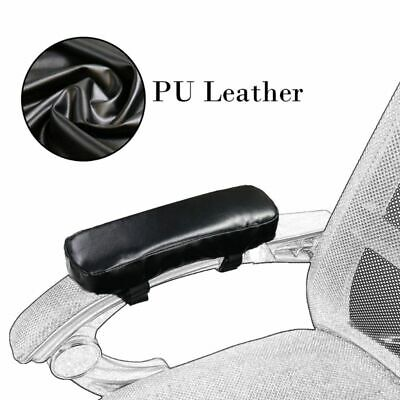 Chair Armrest Pad Leather Cushion Memory Foam Elbow Pillow Support Arm Covers