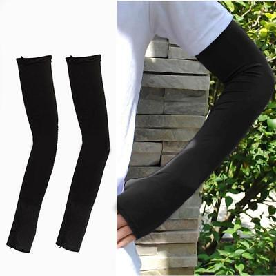 1 Pair Arm Cooling Sleeves Gloves Sun Protection Cover Driving Fishing Black ZH