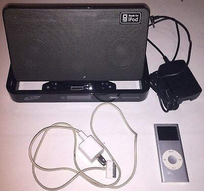 Apple iPod Nano 2nd Generation 4 GB Silver With Charger And Iive Speaker