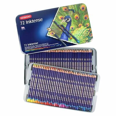 72 Colours Derwent INKTENSE Watercolour Pencils in Tin Art Adult Colouring Books
