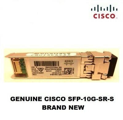 Genuine Cisco SFP-10G-SR-S 10GBASE S Class Transceiver MMF