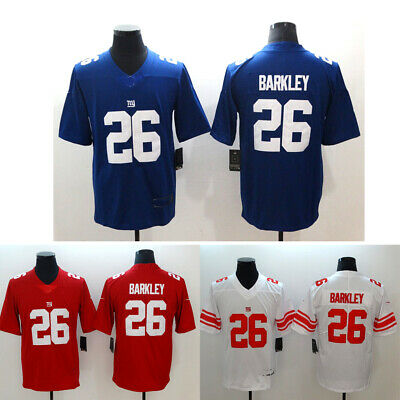 size 40 20b29 6793d NEW YORK GIANTS #26 Saquon Barkley Mens Blue/White/Red Jersey Size M-3XL