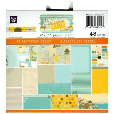 PRIMA 6x6 Paper Pad 48 Sheets! LADY BIRD Scrapbooking Papers Card Making RARE