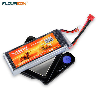 FLOUREON Batterie 11.1V 5500mAh 3S 35C Lipo pour RC Helicopter Boat RC Airplane