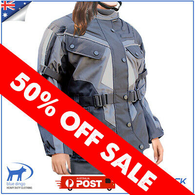 Ladies Motorcycle Jacket Winter Textile Waterproof Windproof Scooter ATV Cordura