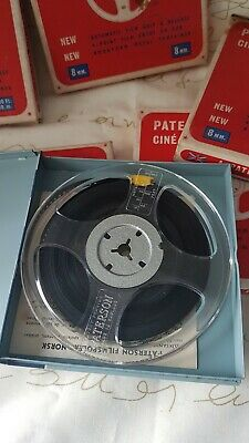 5 Paterson 8mm  Cine Spools & Containers With Film