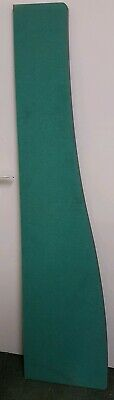 Desk Mounted Privacy Office Screens Dividers Green With Grey Trim Curved