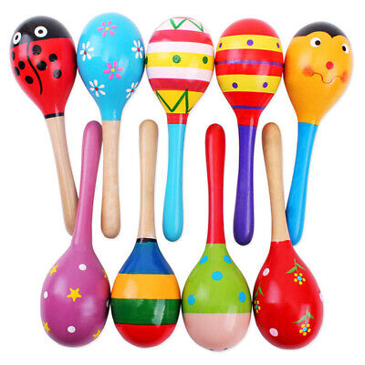 Toddler Rattle Hammers Sound Toys for Baby Wooden Rattle Random Colour 1-Pack