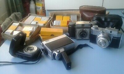 Vintage Camera & Equipment job lot,films,light meter,cameras etc