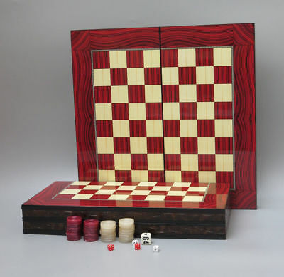 Chess Backgammon Frustration SAP Concur The Best Run Wooden 4 Game Travel Set