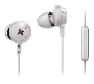 Philips Bass+ SHE4305 headphone with mic white pack of 1 free shipping