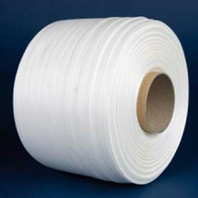 4x Pallet Strapping Woven Corded Polyester Banding 13mm X 1400mtr (4Rolls)