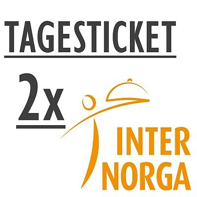 2 x INTERNORGA 2019 Tageskarte - - Tagesticket Ticketcode Eintrittskarte Ticket