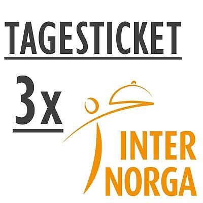 3 x INTERNORGA 2019 Tageskarte - - Tagesticket Ticketcode Eintrittskarte Ticket