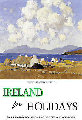 Ireland for Holidays - Connemara - Paul Henry Travel A3 Art Poster Print
