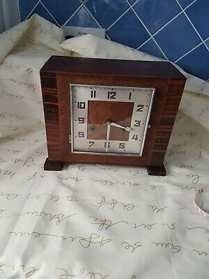 "Vintage Art Deco 'H.A.C"" 8-Day Striking Mantel Clock"