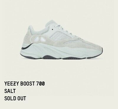 8d242488cc8db Adidas YEEZY Boost 700 Salt - UK4 US4.5 - ORDER SHIPPED RARE KANYE WEST