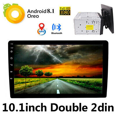 Android 8.1 Double 2din Indash Car GPS Stereo 10.1'' HD Auto Radio Unit BT WIFI