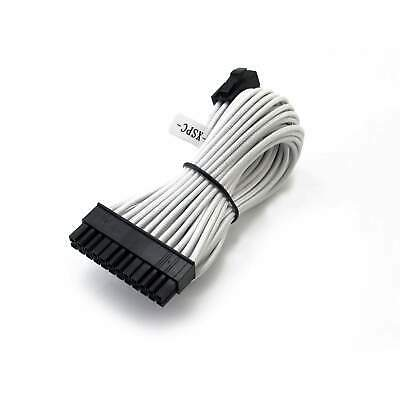 XSPC Premium Sleeved 24-Pin ATX Extension Cable (White)
