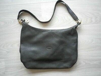 lunga pelle Condition a Borsa in a mano Excellent nera Stain 0 grana fxq01
