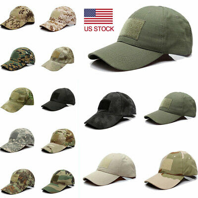 7f03bf06888 Military Tactical Army Camouflage Magic Tape Baseball Hat Special Forces Cap  US