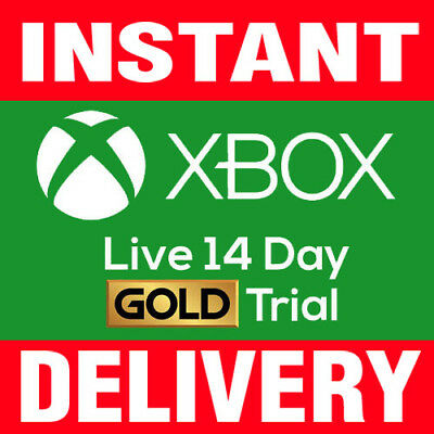 Xbox Live 14 day Gold Trial Membership Code INSTANT Delivery - (2 weeks) 14 days