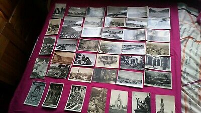 Job lot of 40 old black and white postcards