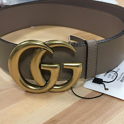 1c1ebab77 Authentic GUCCI Dusty PINK Leather GOLD GG Marmont Buckle sz 75 / 30 fits  24-