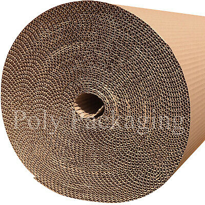 1200mm Wide CORRUGATED CARDBOARD PAPER ROLLS Postal Packaging Wrapping Parcels
