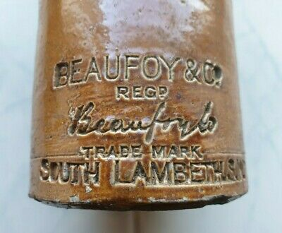 Attractive impressed BEAUFOY & CO South Lambeth London ginger beer bottle