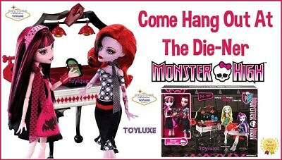 Monster High Die-ner + Draculaura & Operetta 2 Doll Playset Diner Cafe Exclusive