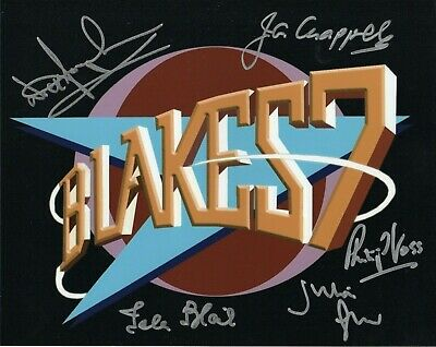 BLAKE'S 7 - Photograph Signed by 5 BLAKES 7