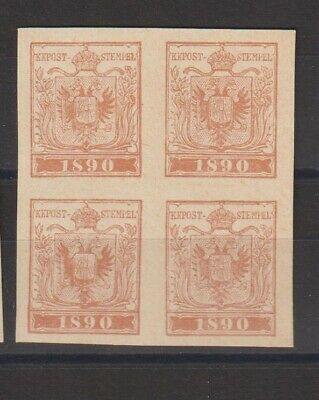 German Poster Stamp 1890 Philatelic Block of Four RR