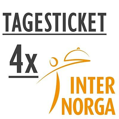 4 x INTERNORGA 2019 Tageskarte - - Tagesticket Ticketcode Eintrittskarte Ticket