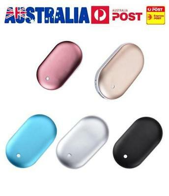 Pocket Hand Warmer Heater USB Charger Electric Rechargeable 5200mA Power Bank AU