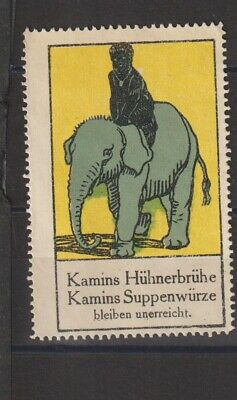 German Poster Stamp Elephant