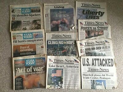 """Daily News September 13 2001 Days after 9//11 /""""10,000 Feared Dead/"""" Newspaper"""