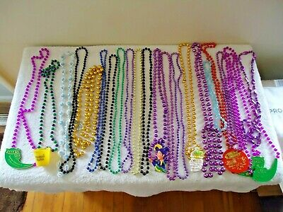Mixed Lot Of Over 20 Mardi Gras Beads / Other  Misc.Of Various Years,Types,etc.