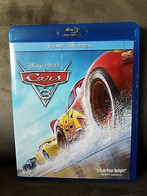 Disney Pixar Cars 3 (Blu Ray + DVD + Digital, 2017) 3 Disc Set