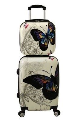 Cute Luggage For Women Girls Teen Underseat Carry On Hard Sided With Wheels 2 Pc