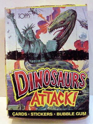 New 1988 Topps DINOSAURS ATTACK! trading gum cards FULL WAX BOX 48 Packs
